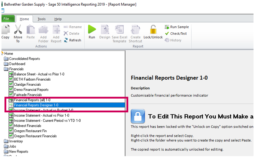 Part 3 of 3: Create and customize reports easily with the Financial Report Designer